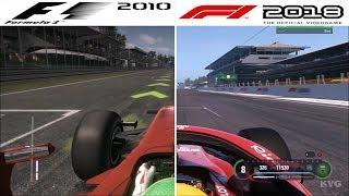 F1 Game Comparison (2010 - 2018 | Autodromo Nazionale Monza | Italian GP Hotlaps)