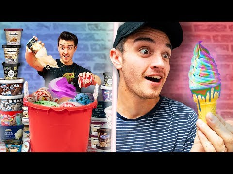 Trying 100 Flavors Of Ice Cream At Once!