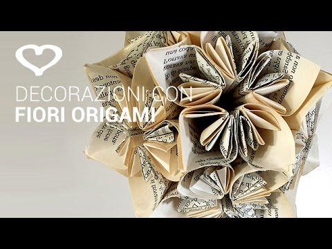 Tutorial Come Realizzare Una Decorazione Con Fiori Origami La Figurina