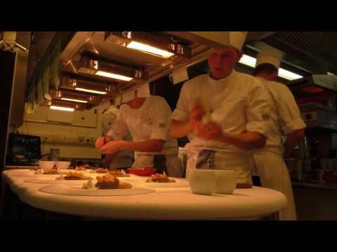 Service at restaurant 3 Michelin star restaurant Hof Van Cleve in Belgium