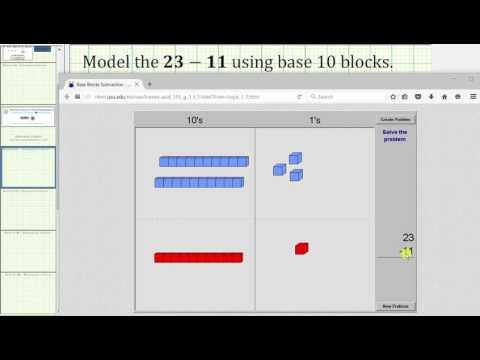 Basic Whole Number Subtraction Using Base 10 Blocks