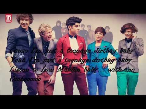 One Direction - Teenage Dirtbag (lyrics with pictures ...