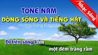 Dòng sông và tiếng hát karaoke nhạc sống
