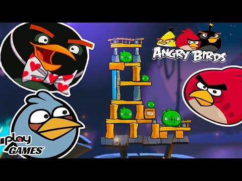 Angry Birds Злые ПТИЧКИ против хитрых СВИНОК! Выиграл ШЛЯПКУ! Безумная игра Энгри Бердс