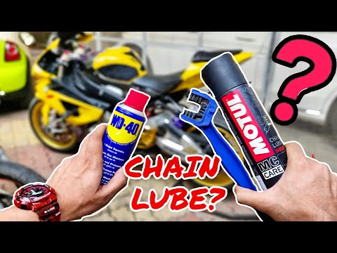 HOW TO LUBE A SUPERBIKE'S CHAIN ? DIY    Motorcycle Chain Maintenance Using WD40 & MOTUL Chain Lube