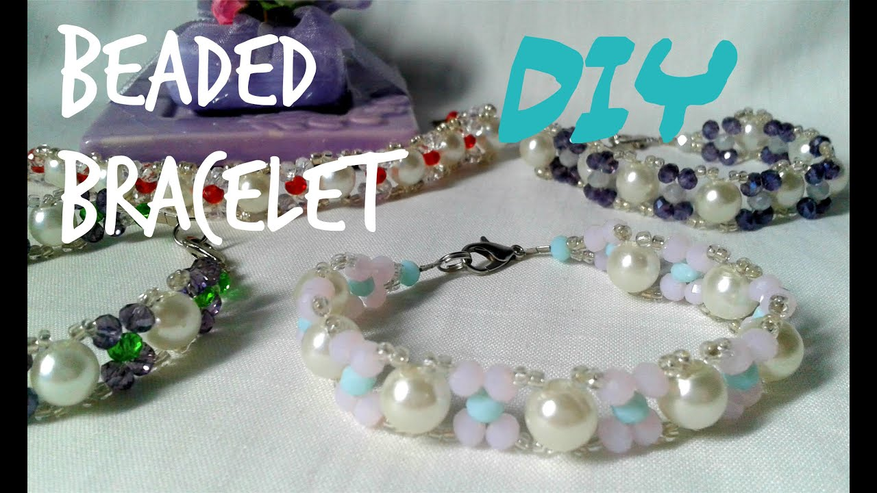 Tutorial DIYhow To Make Easy Beaded Bracelet Summer Color2 Handmade