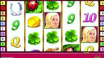 Lucky lady's Charm slot game machine in casino with jackpot big win