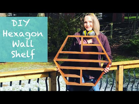 DIY Hexagon Wall Shelf