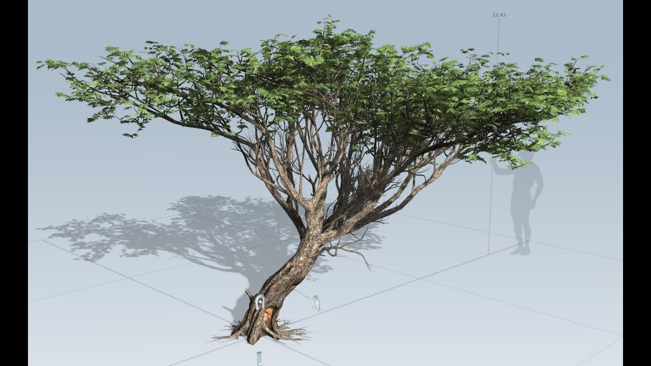 How to make tree in speedtree and import it in ue4 part 1