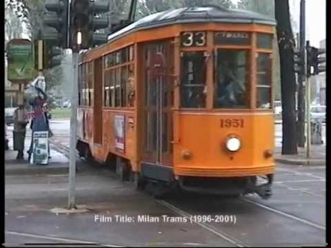 Milan Trams in Via Proaccini in September 1998