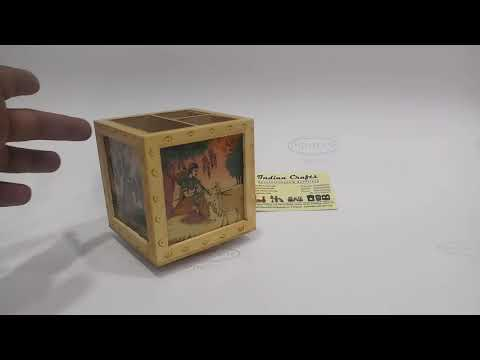 Wooden Pen holder Rotating: Product code 1677 by Handicraftsinindia.in