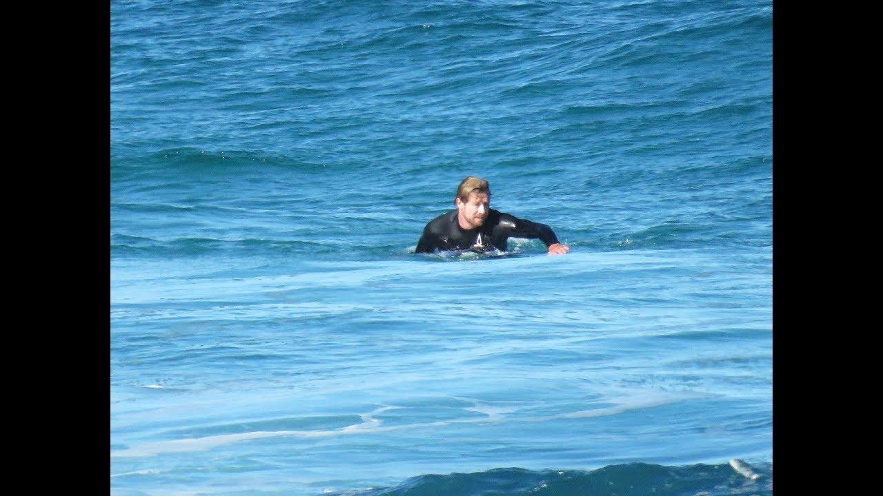 Actor Simon Baker Surfing Bronte Beach 22 8 2017 By Cora Bezemer