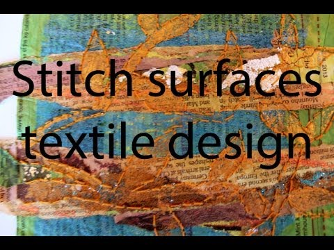 Stitch surfaces textile design with Bondaweb