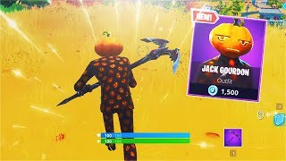 *NEW* Jack Gourdon Skin! [Pumpkin Head Skin] (Fortnite)
