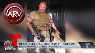 Perturbador video de amenazas contra caravana en Tijuana | Al Rojo Vivo | Telemundo