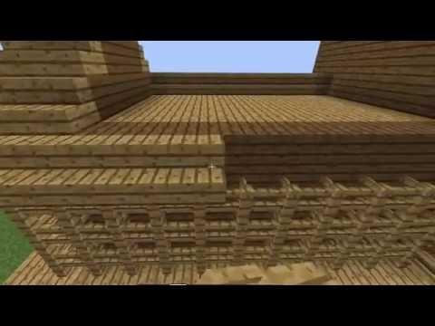 Minecraft – สร้างบ้านไม้สองชั้น แบบกากๆ