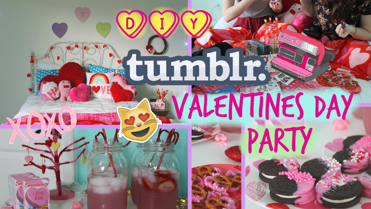DIY Tumblr Inspired Valentines Day Party! - YouTube