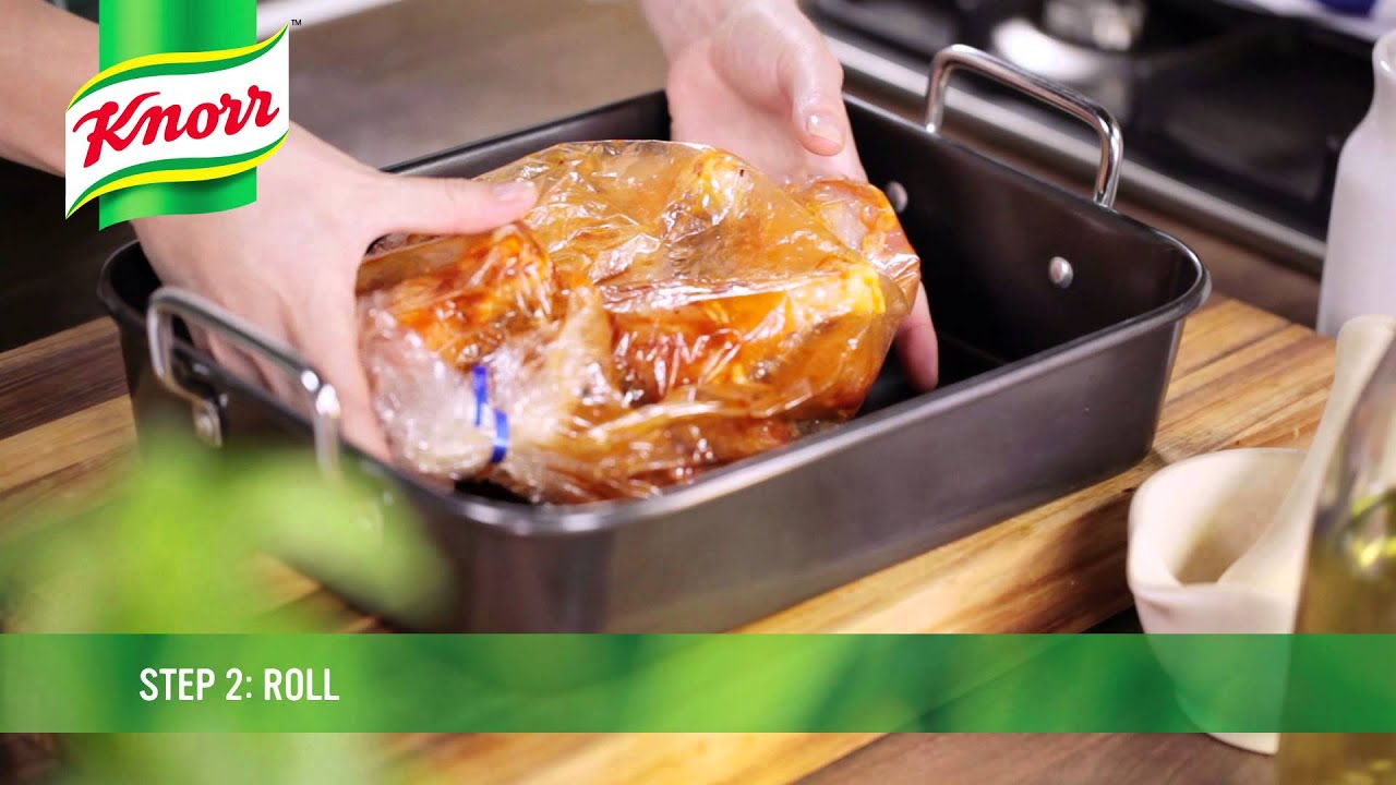 Juicy delicious chicken in a Knorr Cook-In-Bag - YouTube