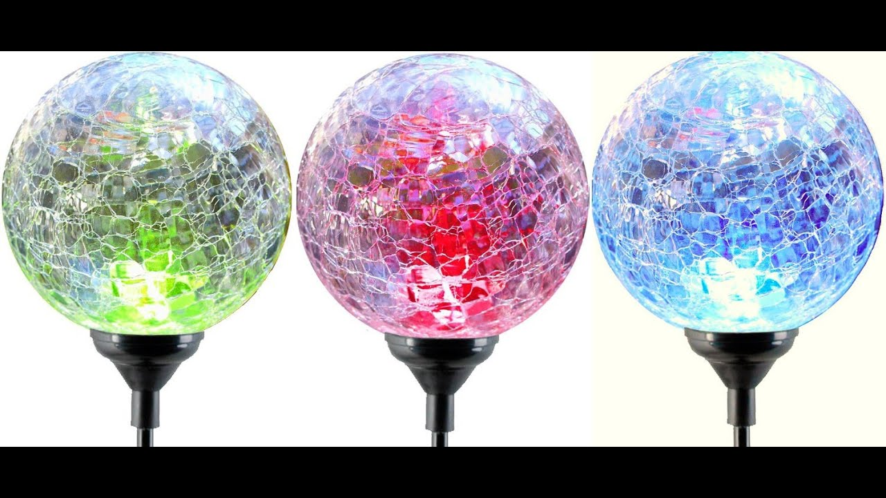 Review Moonrays 91251 Color Changing Solar Gl Ball Fixture 3 Pack You