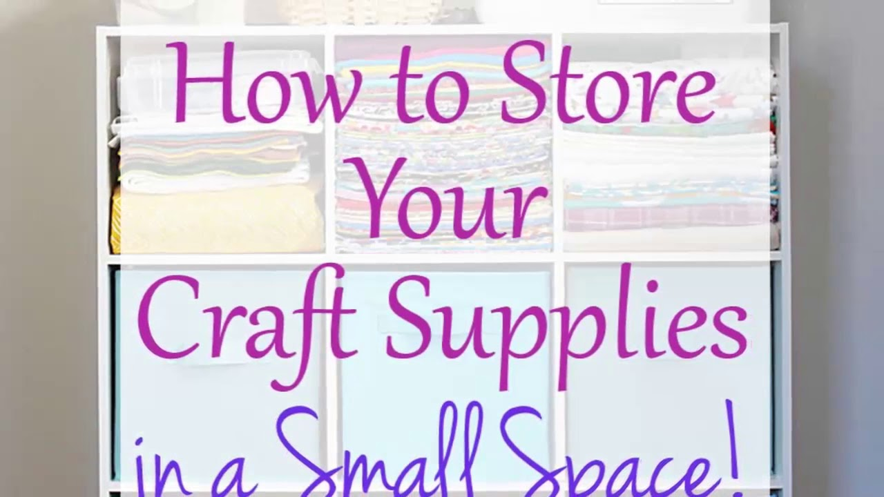 Delicieux [Storage Ideas] Craft Storage Ideas For Small Spaces [diy Storage Ideas]