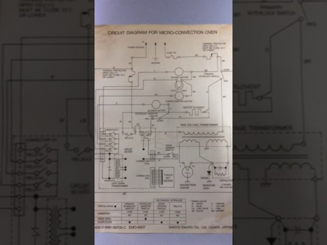 Micro Oven Circuit Diagram Youtube