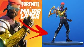 FORTNITE x MAJOR LAZER Event Tomorrow! + Leaked Skin Showcase