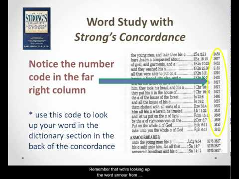 How to Use a Strong's Concordance