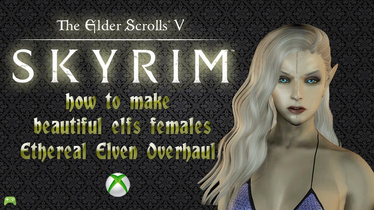 skyrim special edition how to make beautiful elfs females Xbox [HD]