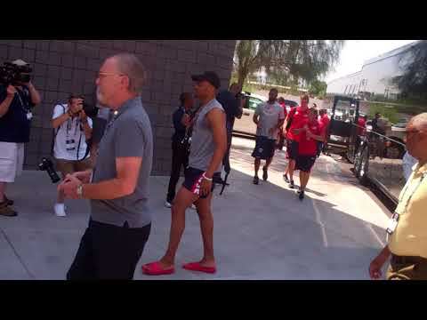 Team USA Basketball arriving at UNLV July 2018