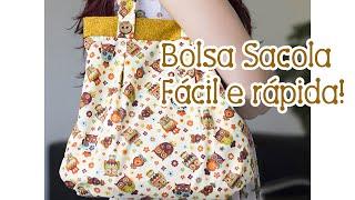 Tia Lili na TV: Bolsa Sacola (com molde!)