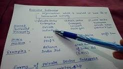 Types of Business Enterprises (class 11)