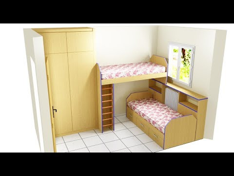 Como poner dos camas en habitaci n peque a youtube - Como decorar habitaciones ...