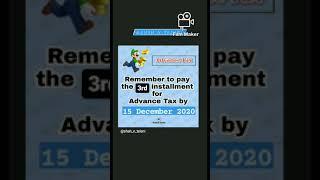 Advance Tax Payment | 3rd Installment due date | Rushabh shah