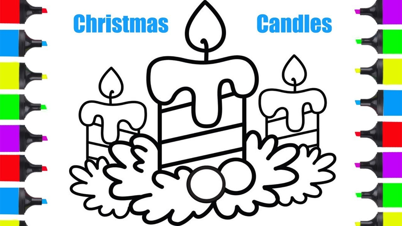 How To Draw Christmas Candles Easy