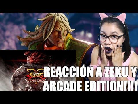 STREET FIGHTER V | Reacción a Zeku y ARCADE EDITION!!