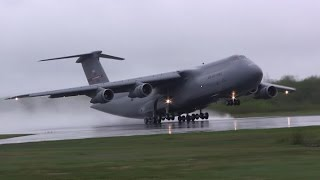 Amazing C-5 Galaxy Screaming Takeoff!!!