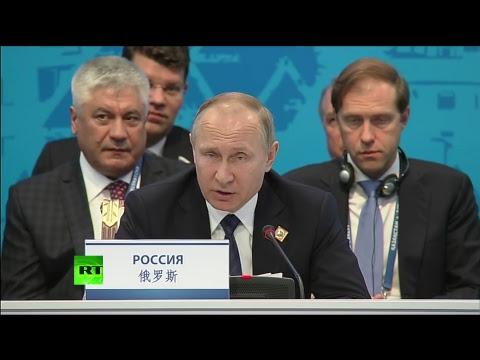 Путин на заседании Совета глав государств ШОС в расширенном составе
