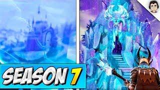 *NEW* SNOW CASTLE IN RIFT! Fortnite Season 7 LEAKED Snowy Map Locations & Season 6 STORYLINE ENDING!