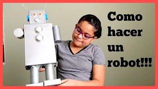 COMO HACER UN ROBOT CON MATERIALES RECICLADOS! (TAREA, VACACIONES DE PRIMAVERA)