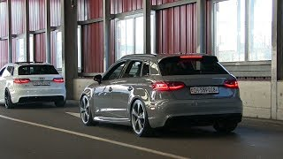Audi RS3 Revs, loud pops and bangs