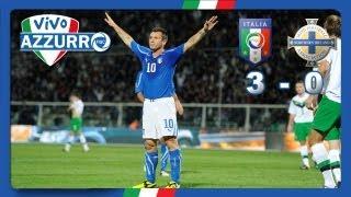 L'italia chiude in bellezza il suo girone regolando con un netto 3-0 l'irlanda del nord. doppietta di cassano e autorete mcauley