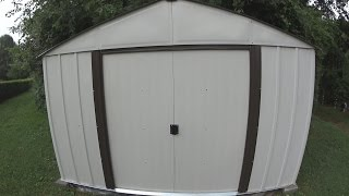 Building an Arrow 8x10 Metal Storage Shed with Instructions and Review