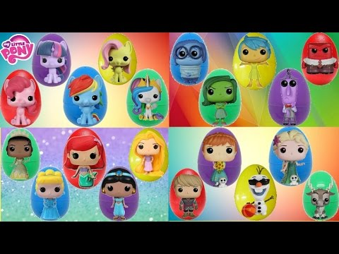 Compilation of Funko Pop Figures, Toy Egg Surprises: MLP, Inside Out, Disney Princess, Frozen / TUYC