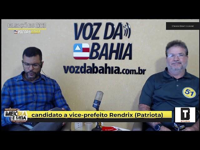 Meio-dia e meia live  Rendrix  candidato a vice-prefeito em SAJ. (Patriota)