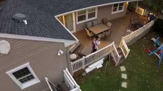 Drone - My 1st test flight over my house.
