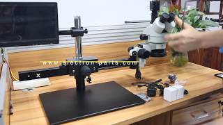 Install Long arm video microscope for mobile phone repair