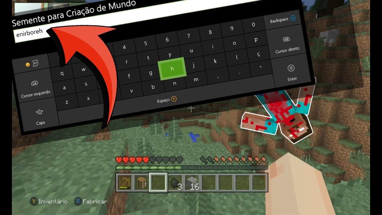 Minecraft Xbox One Edition: Escrevi HEROBRINE ao Contrário na Seed