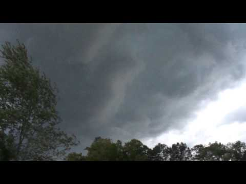 Storms associated with a cold front roll in over home