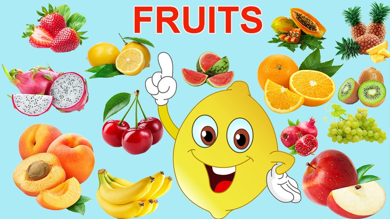 Fruit Names With Pictures For Kids