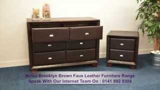Birlea Brooklyn Brown Faux Leather Furniture Range